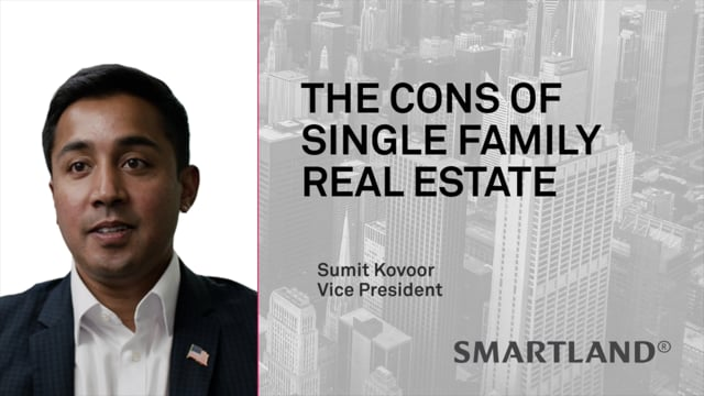 The cons of single family real estate